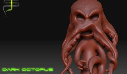 3D Octopus Sculpting